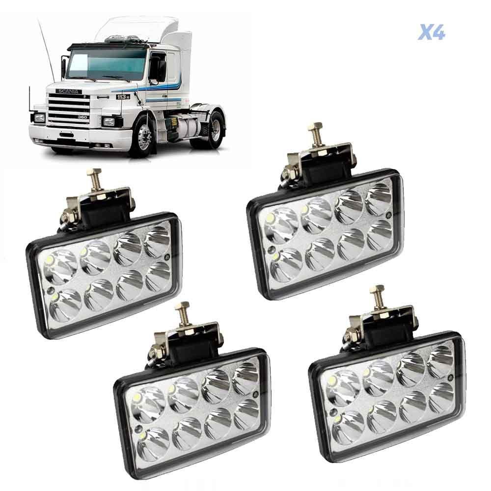 Farolete de Led Compatível com o Caminhão Scania 112 113 4 Unidades 12V 24V