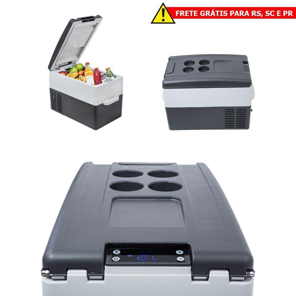 Geladeira Portátil para Caminhão Resfriar 12v 24v 31 Litros Digital FRETE GRÁTIS RS SC PR