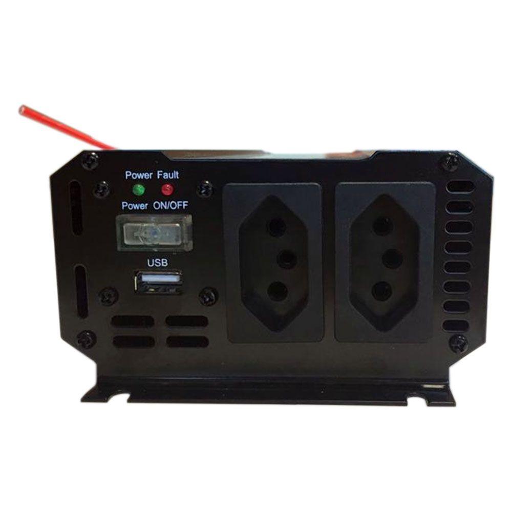 Inversor de Voltagem 12V para 110V 600W Caminhão