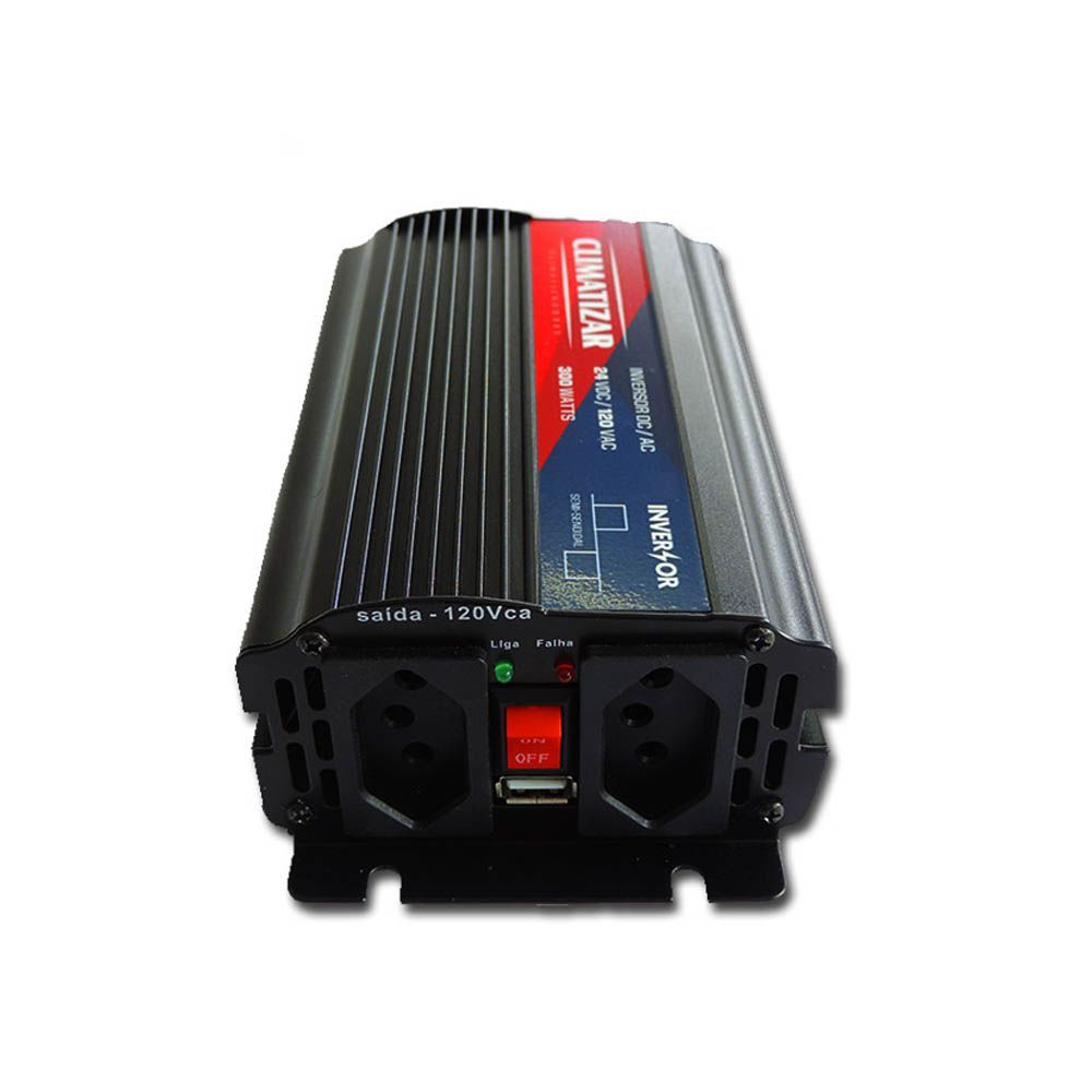 Inversor de Voltagem 24V para 110V 300W Caminhão