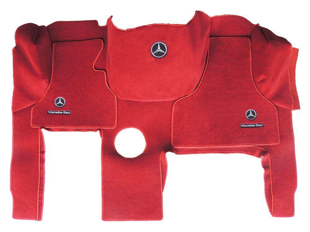 Jogo de tapetes para caminhão Mercedes Actros Carpete Luxo