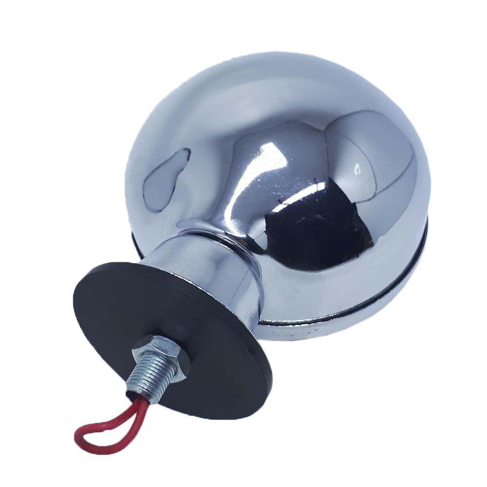 Kit 3 Lanternas Foguinho Laranja Cromada com suporte