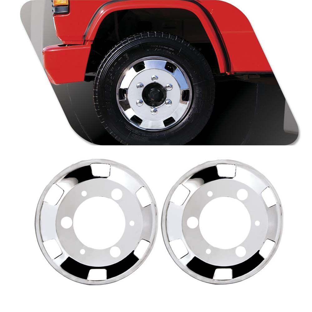 Kit 4 Calotas Cromadas Bepo Speedline Caminhão Três Quartos Aro 17,5