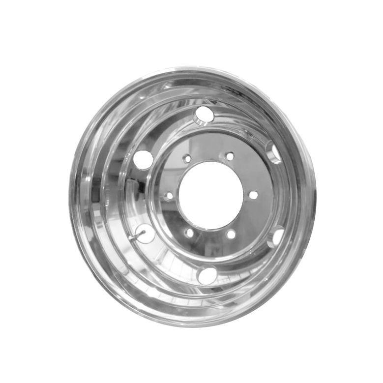 Kit 4 Rodas de Alumínio Caminhão 3/4 17,5 x 6 Furos Redondo