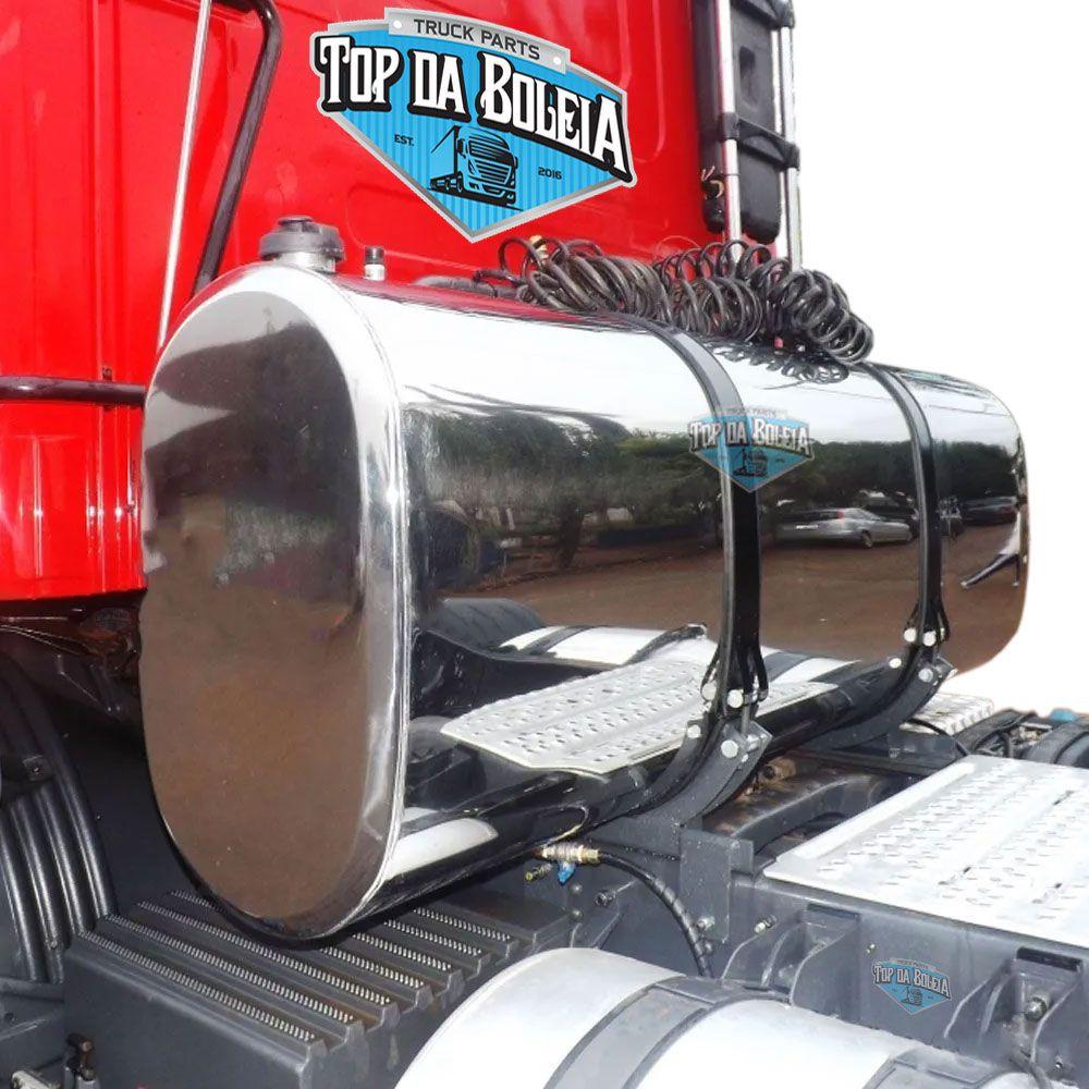 Kit Tanque Combustível Oval Inox Plataforma 450 Litros
