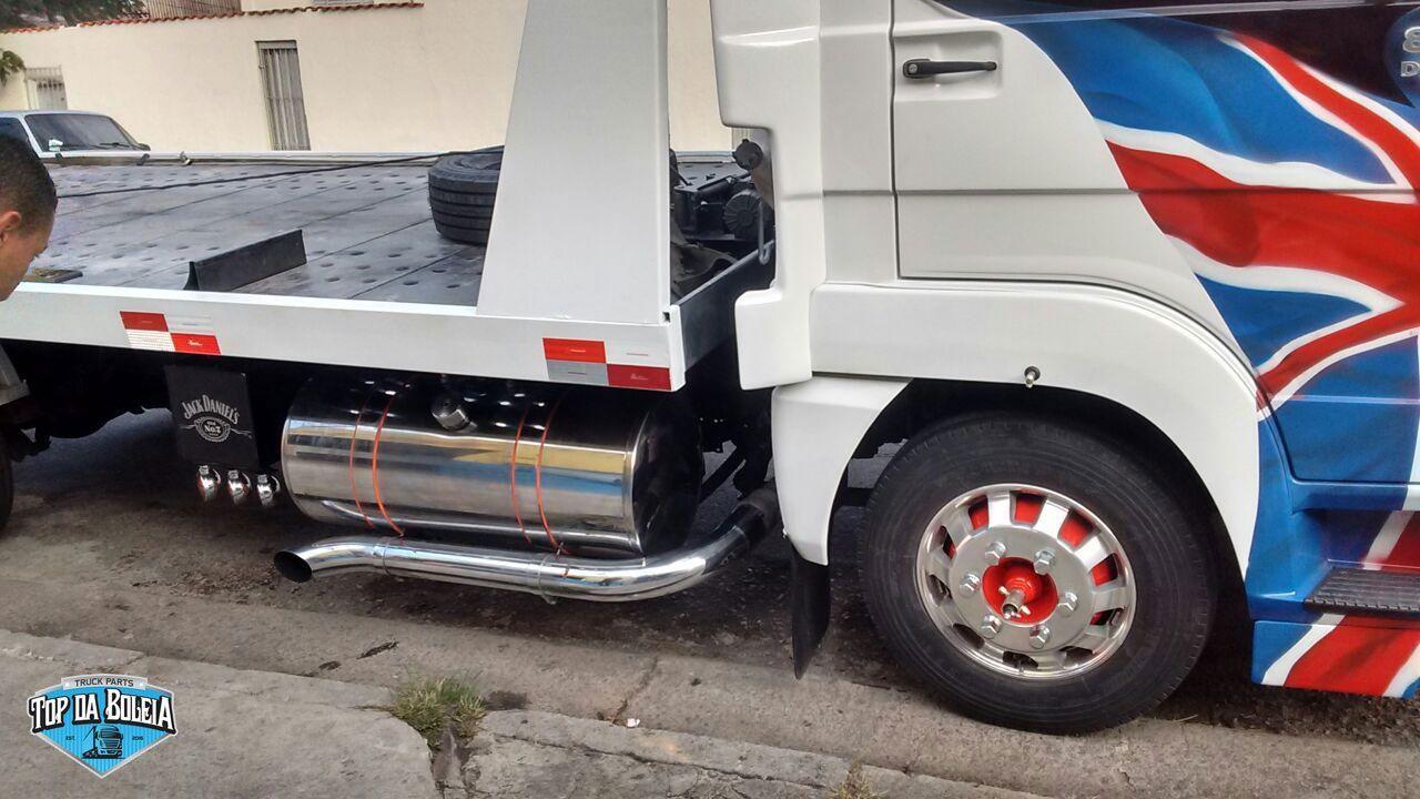 Kit Tanque de inox 155 litros completo para Caminhão Ford Cargo 815, 816, 915, 1119