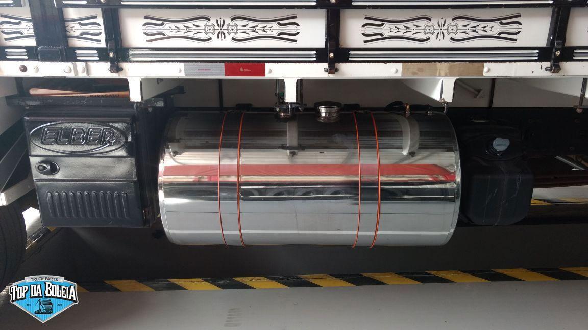 Kit Tanque de inox 155 litros completo para Caminhão Iveco Daily Padrão Boia de Rosca