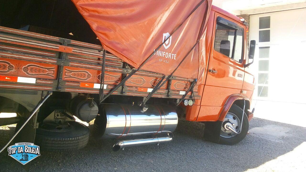 Kit Tanque de inox 155 litros completo para Caminhão MB 608, 710, 709, Accelo