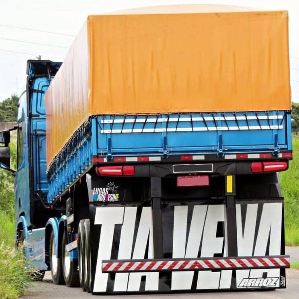 Lameirão Lameiro Badana Personalizado para Caminhão Carreta PROMOÇÃO 6X SEM JUROS NO CARTÃO