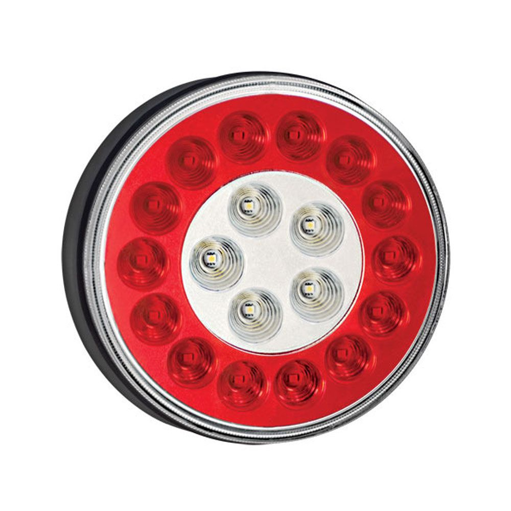 Lanterna 19 LEDs Bivolt Universal Corujinha Braspoint Reposição Facchini - LED Vermelho e Amarelo