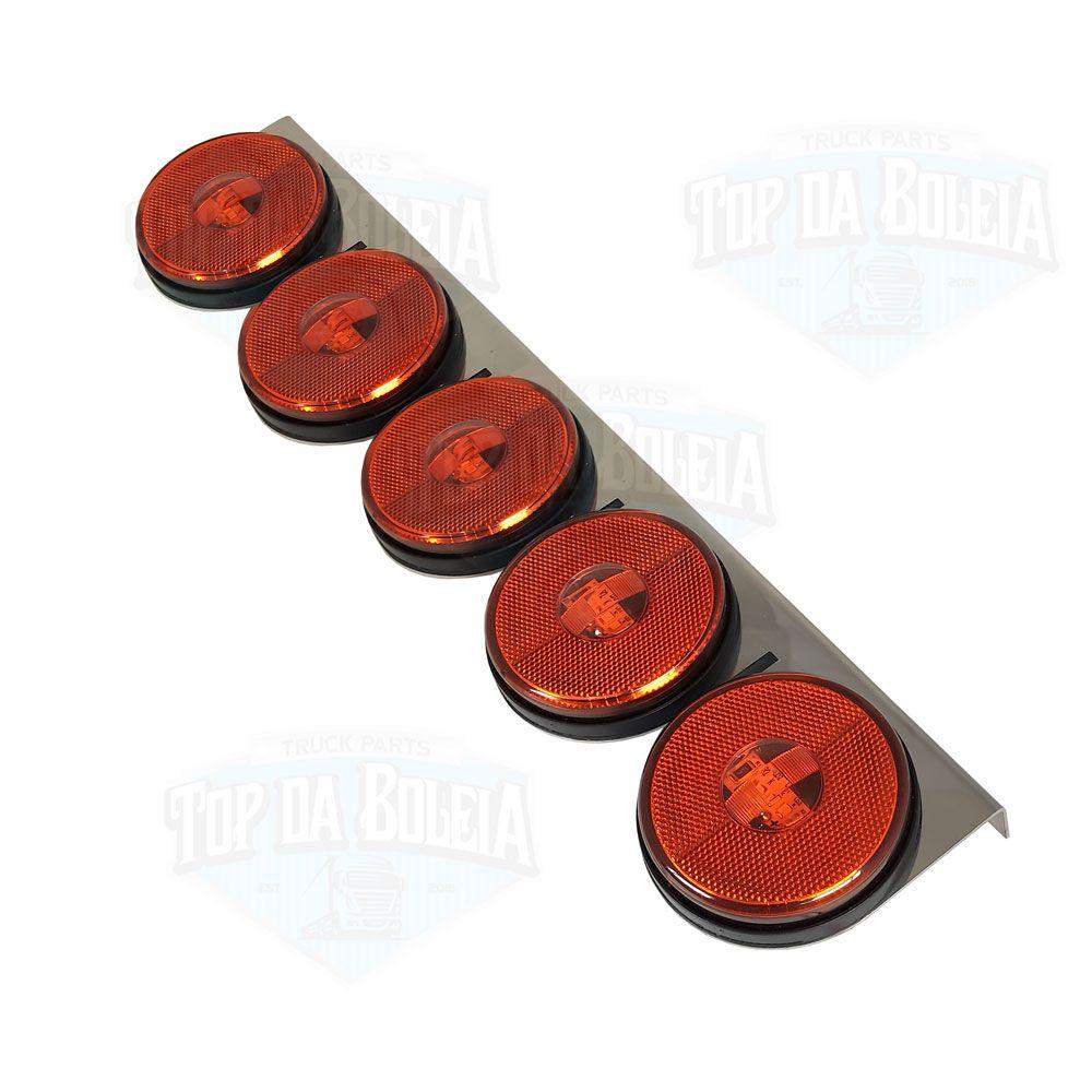 Lanterna 5 Marias em Led com Suporte Inox Bivolt