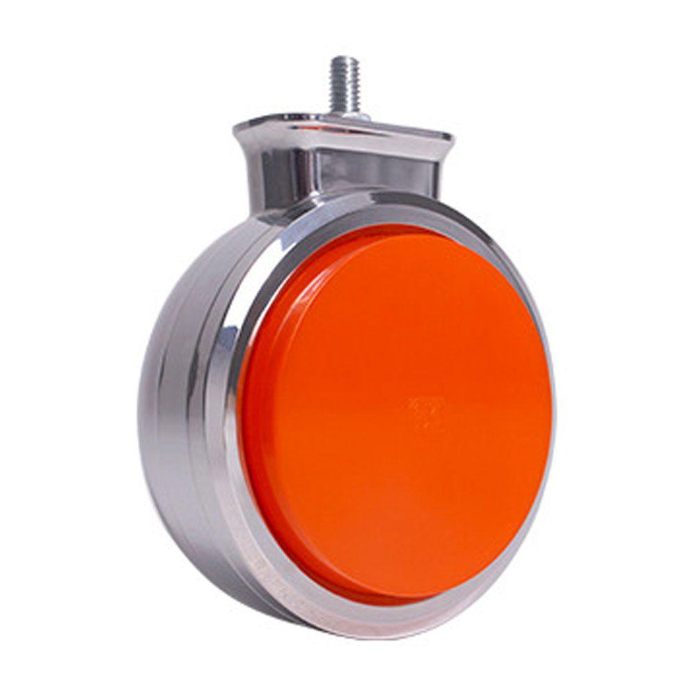 Lanterna Foguinho Led cromada Laranja 12v 24v