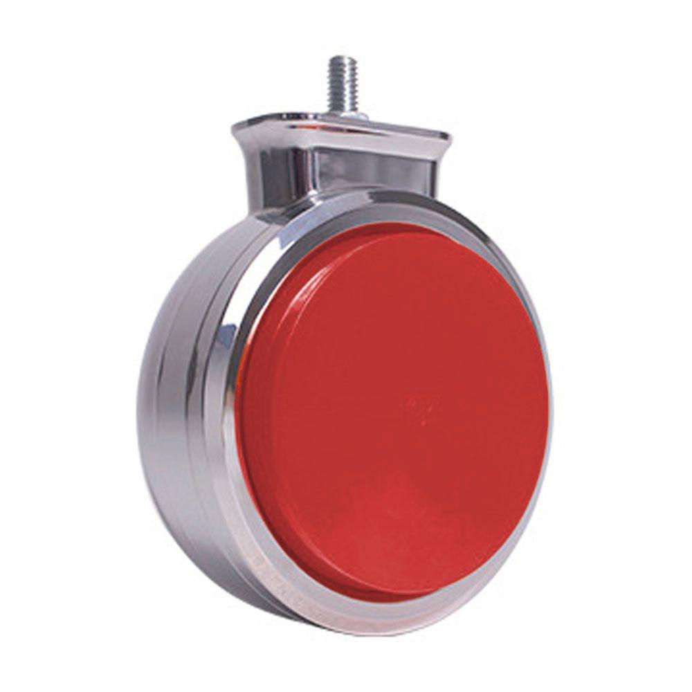 Lanterna Foguinho Led cromada Vermelha 12v 24v