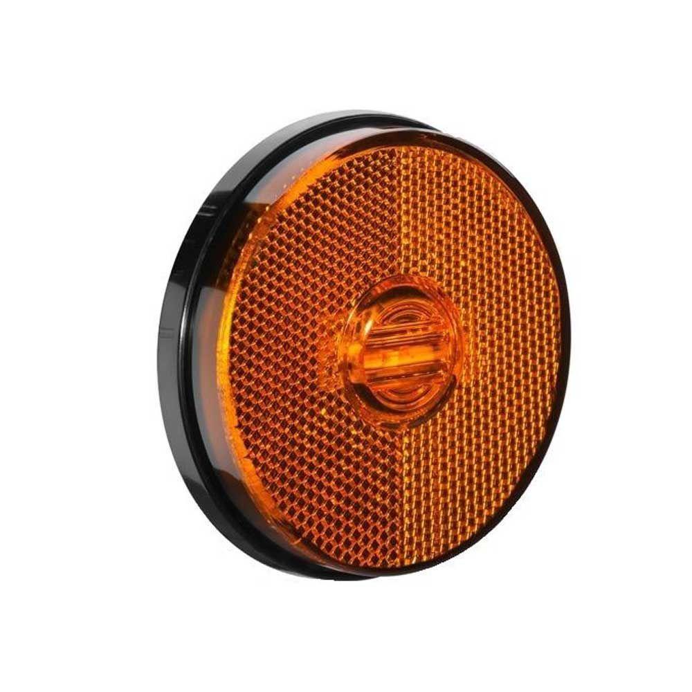 Lanterna Lateral Carreta 85mm Led Bivolt 12v 24v Ambar sem Suporte
