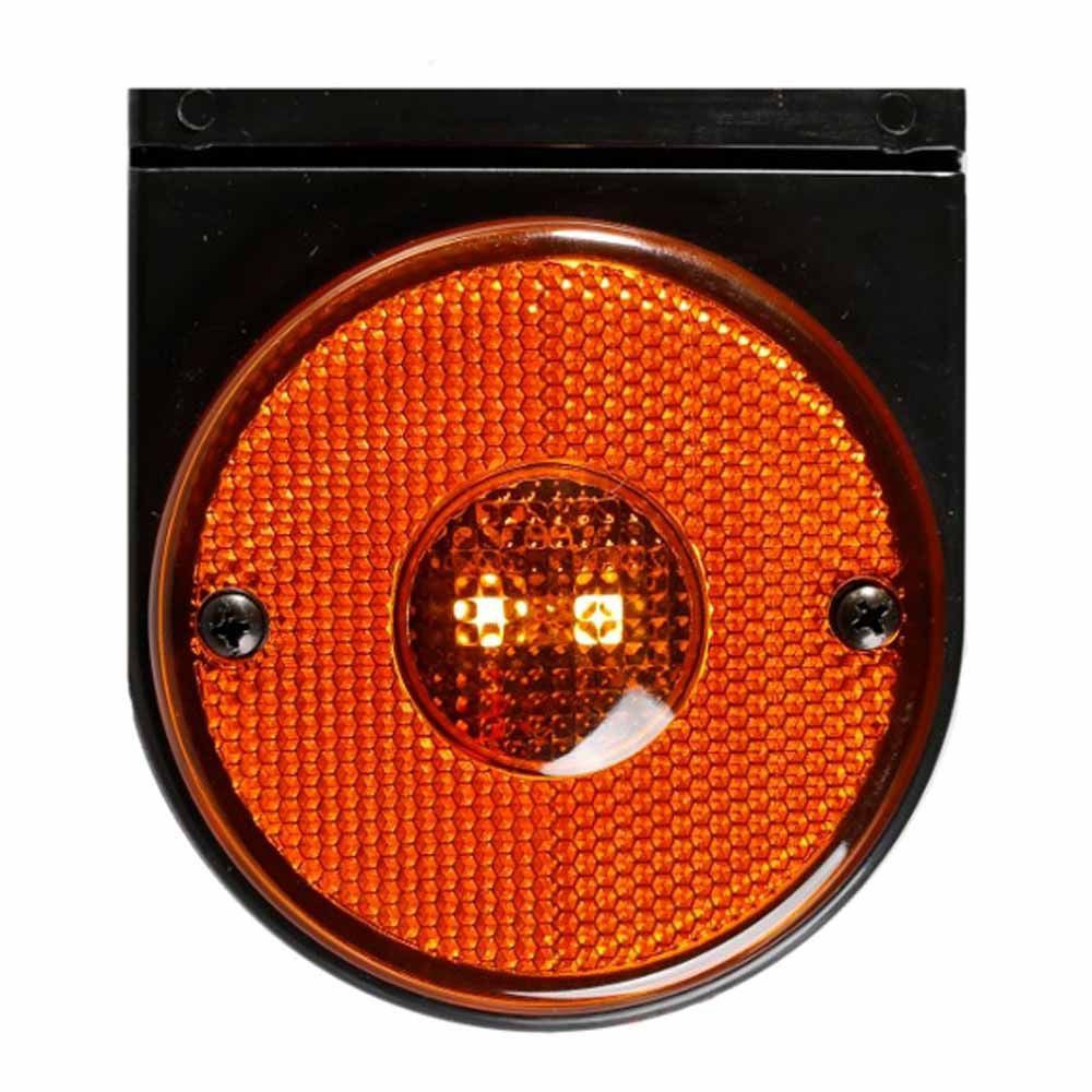 Lanterna Lateral Carreta 85mm Randon Led Bivolt 12v 24v Ambar