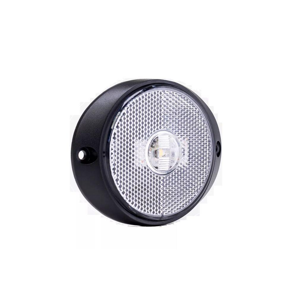 Lanterna peito carreta de led branca 12V 24V com fio 10 unidades
