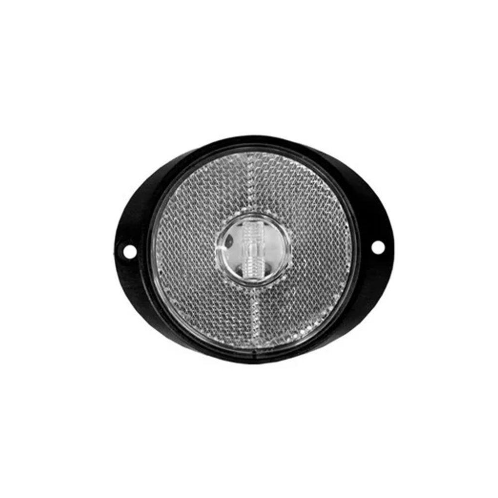 Lanterna peito carreta de led branca 12V 24V com fio 12 unidades