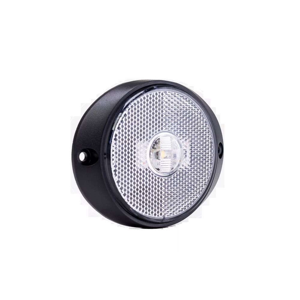 Lanterna peito carreta de led branca 12V 24V com fio 15 unidades