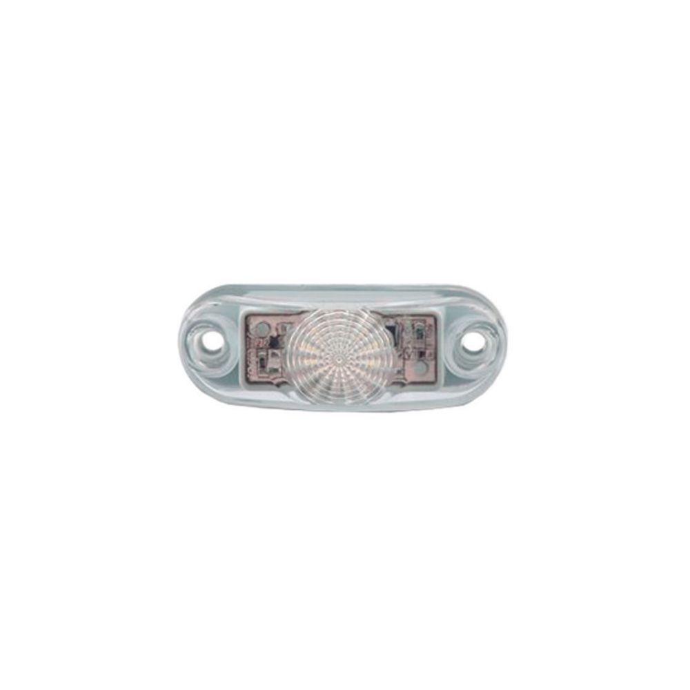 Lanterna Delimitadora lateral carreta reboque led branca 12v 24v - 10 unidades