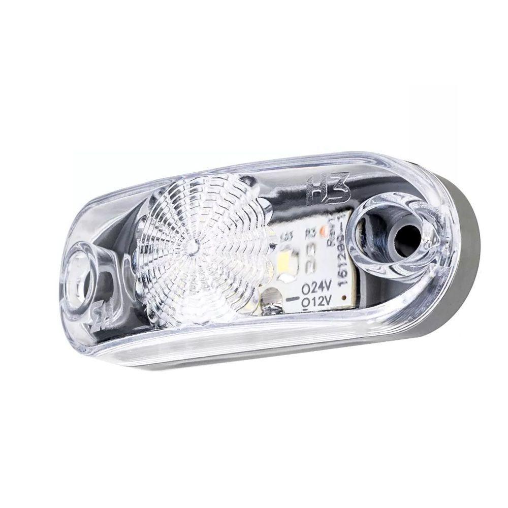 Lanterna placa caminhão carreta reboque led branca 12V 24V