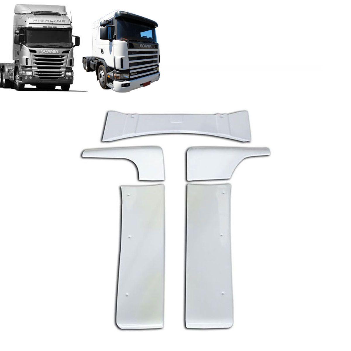 Laterais Cegonheiro com Teto Compatível com o Caminhão Scania S 4 / S 5 Cabine G sem Filtro