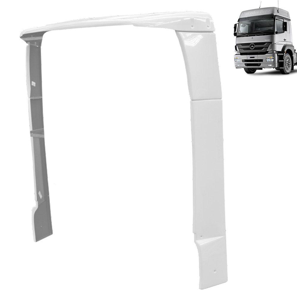 Lateral Cegonheiro Mercedes-Benz Axor Cabine Alta com Teto