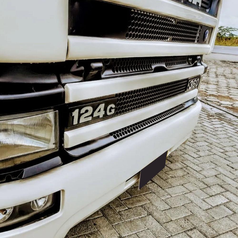 Letreiro Emblema Frontal para Caminhão Scania 124G Scania Série 4