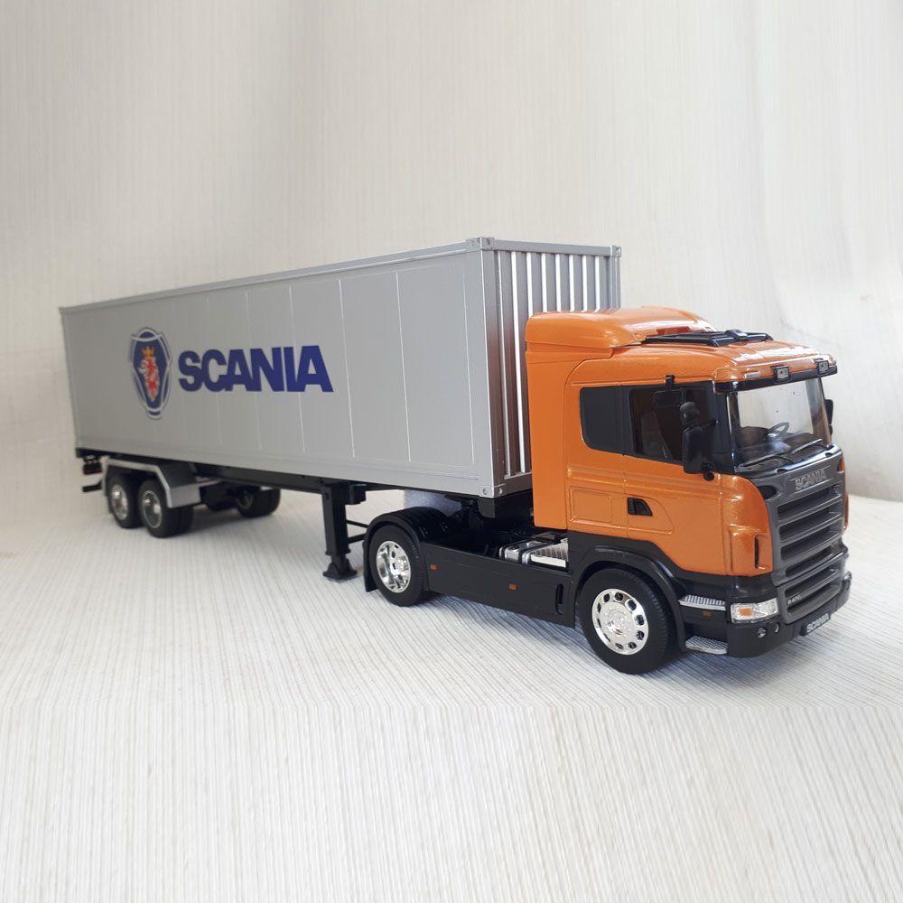 Miniatura Caminhão Baú Scania R470 1:32