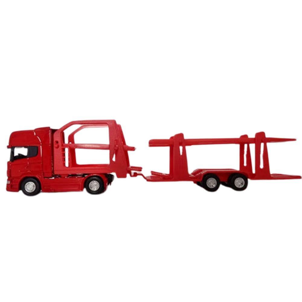 Miniatura Caminhão Scania R730 Carreta Cegonha Escala 1:64