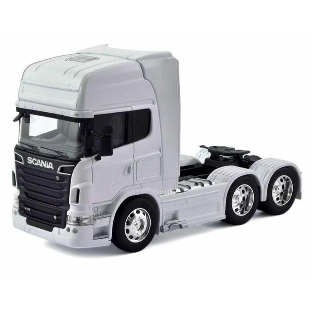 Miniatura Caminhão Scania V8 R730 Trucado 6X2 Escala 1-32