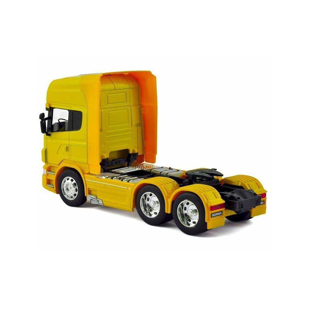Miniatura Caminhão Scania V8 R730 Trucado 6X2 Escala 1-64