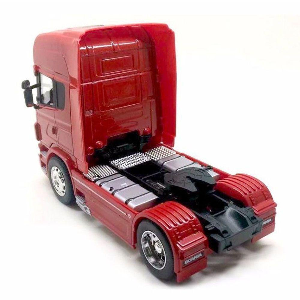 Miniatura Caminhão Scania V8 Toco Vermelho Escala 1:32