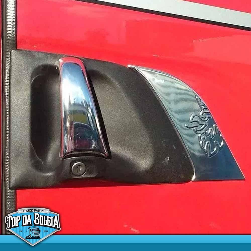 Par Aplique Maçaneta de Porta para Caminhão Scania Série 4 e Série 5 1999 á 2018