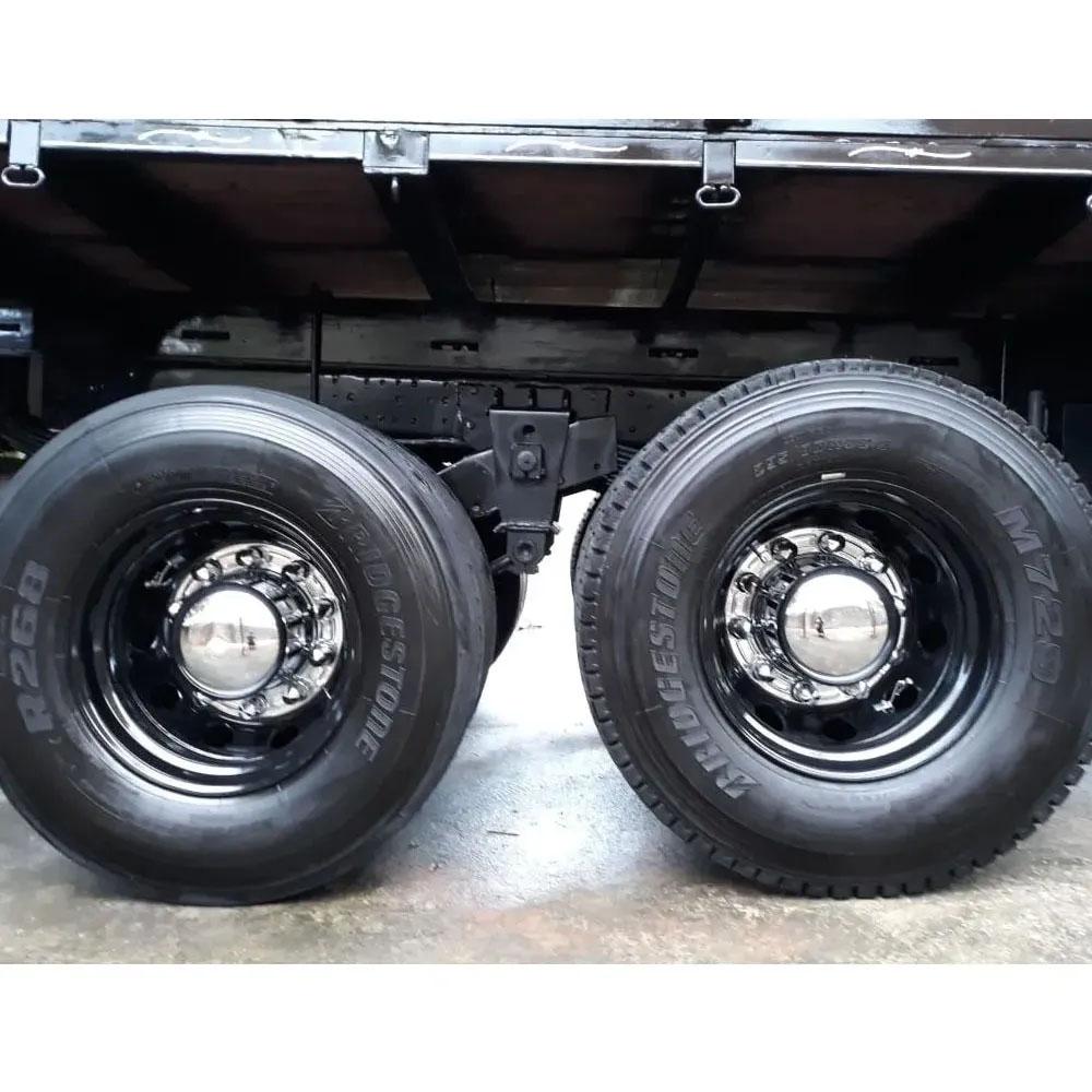 Par Calota Cubo Traseiro Americano para Caminhão 22,5 10 Furos
