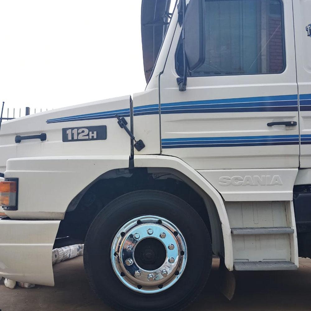 Par Calota Dianteira Americana para Caminhão Roda Aro 22,5