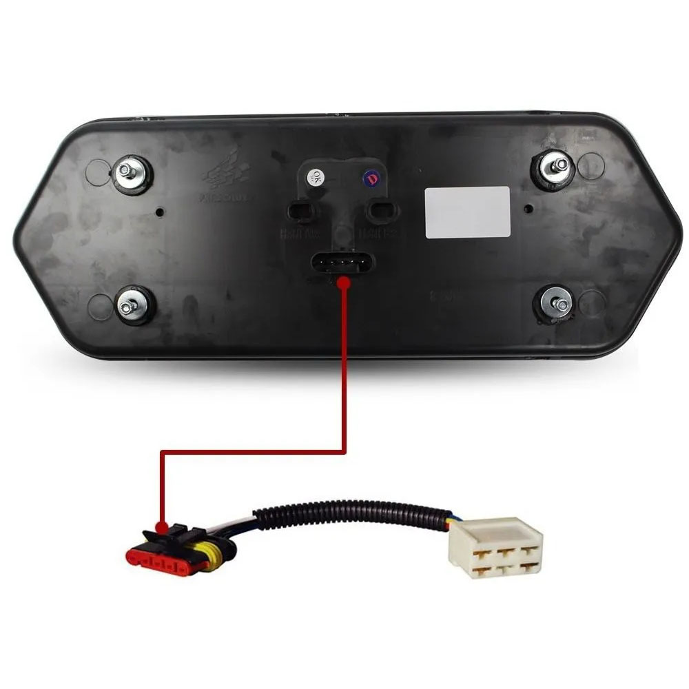 Par Chicote com conector universal 5 vias e conector