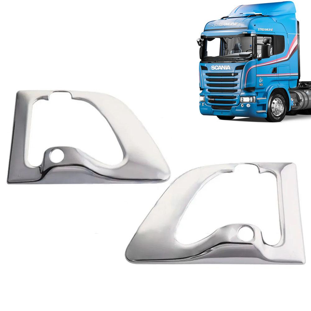 Par Cobertura Fechadura da Porta para Caminhão Scania de S4 / S5 1998 à 2019