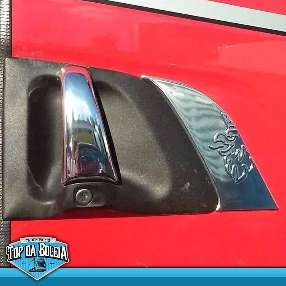 Par de Aplique Moldura da Porta Compatível com o Caminhão Scania