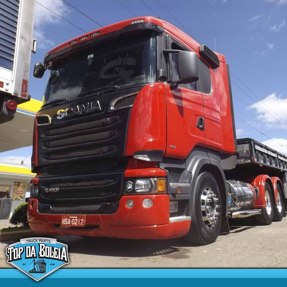 Par de Apliques do Defletor Compatível com Caminhão Scania