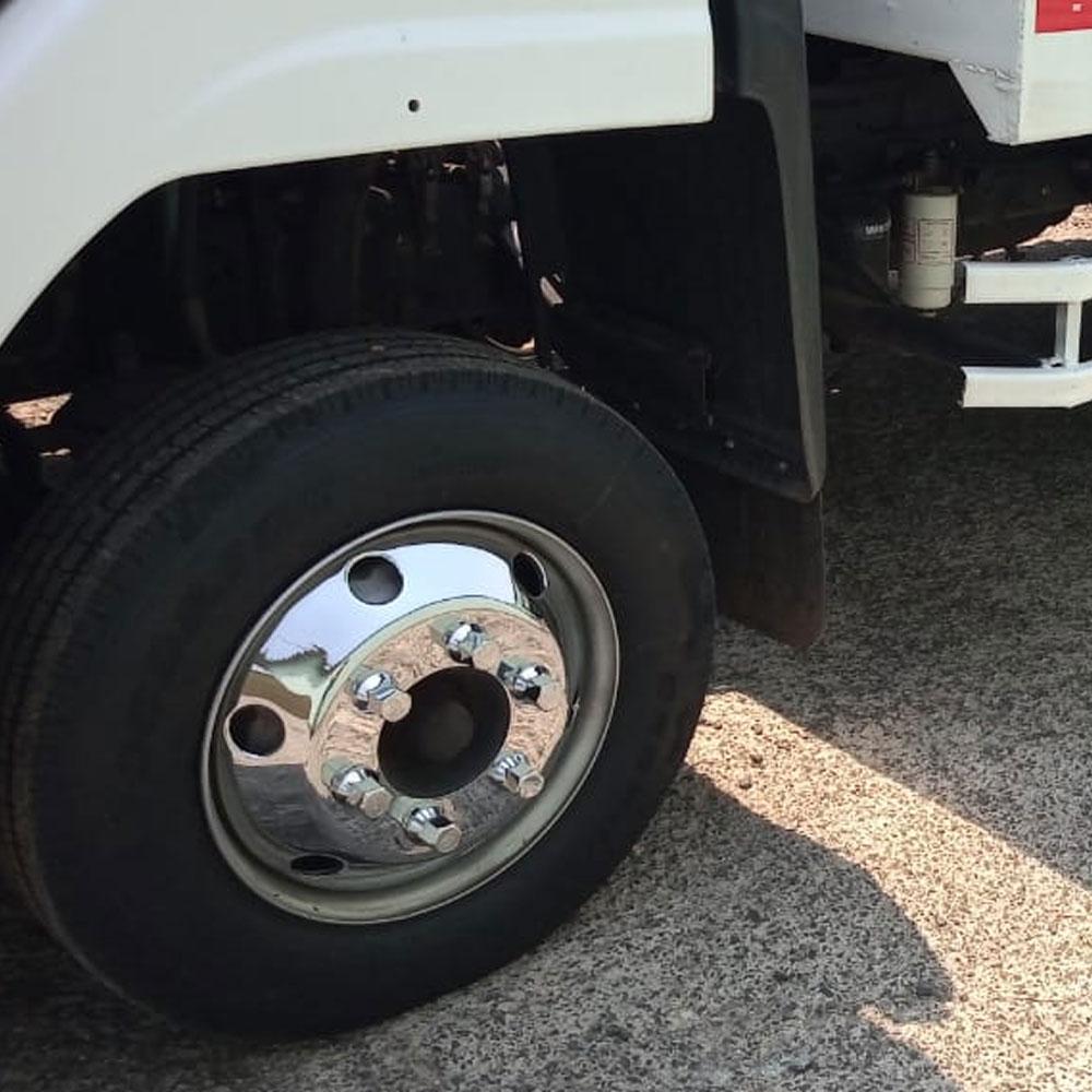 Par de Calotas Cromada Dianteira Americana Ford Cargo VW Delivery Aro 17,5