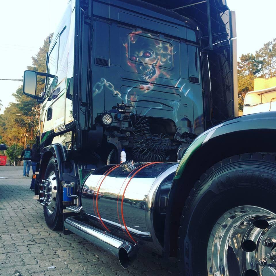 Par de Cintas em Inox com Borracha laranja Compatível com Tanque de Combustível Scania