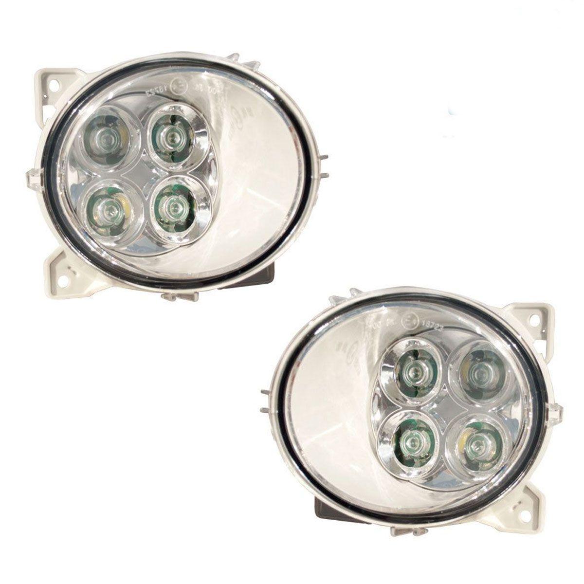Par Farol auxiliar Externo em LED Compatível com caminhões Scania S5 S6 2080689 2080688