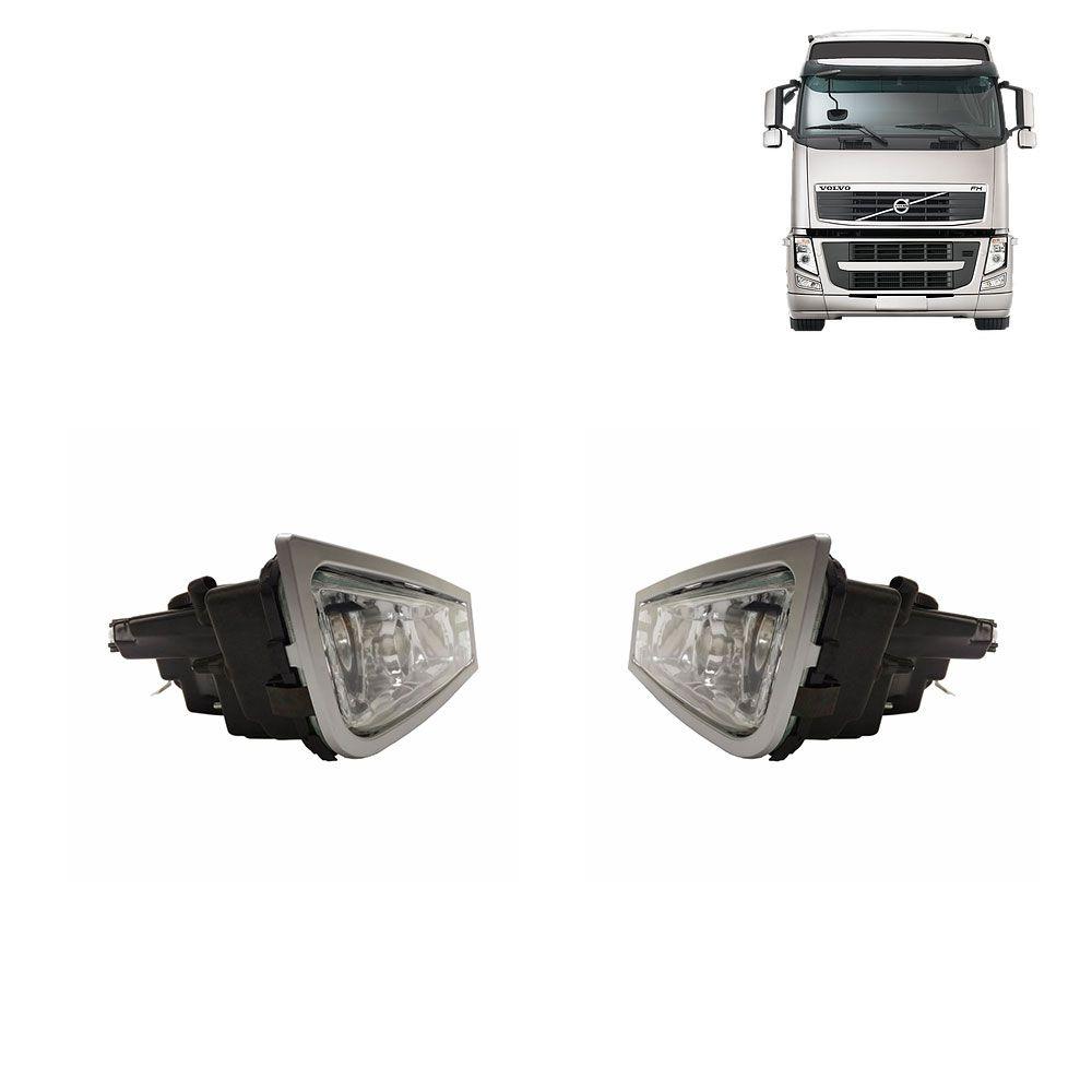 Par Farol Auxiliar para Caminhão Volvo FH12 de 2009 a 2014 Lado esquerdo Lado direito 21297918 21291917