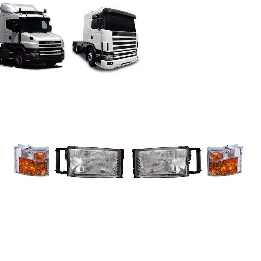 Par Farol Compatível com o Caminhão Scania S4 P R G T 94 114 124