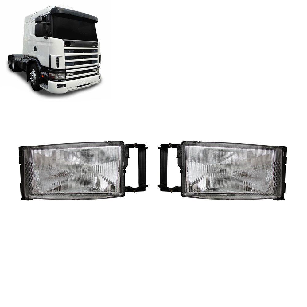 Par Farol Principal Compatível com o Caminhão Scania Série 4 Lado esquerdo Lado direito 1407941 1407940