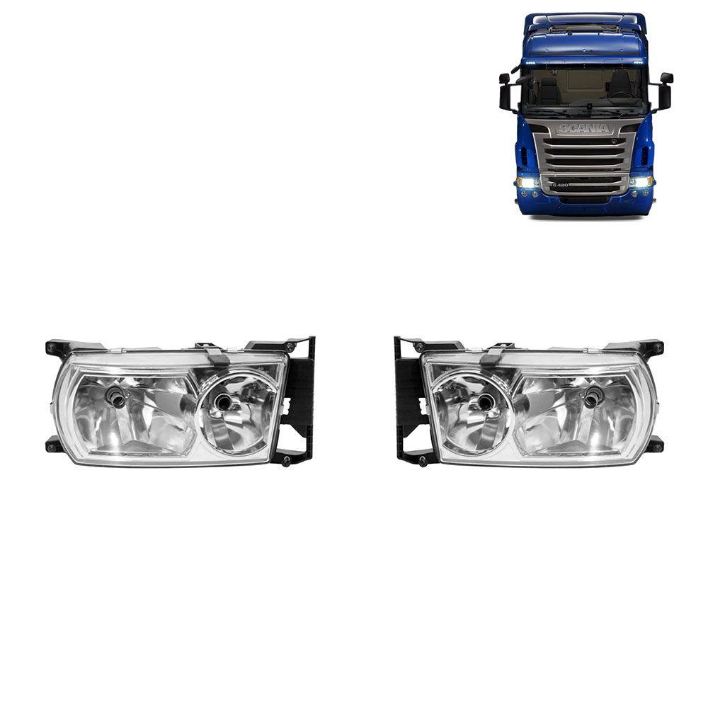 Par Farol Principal Compatível com o Caminhão Scania Série 5 Lado esquerdo Lado direito 1760596 1760597