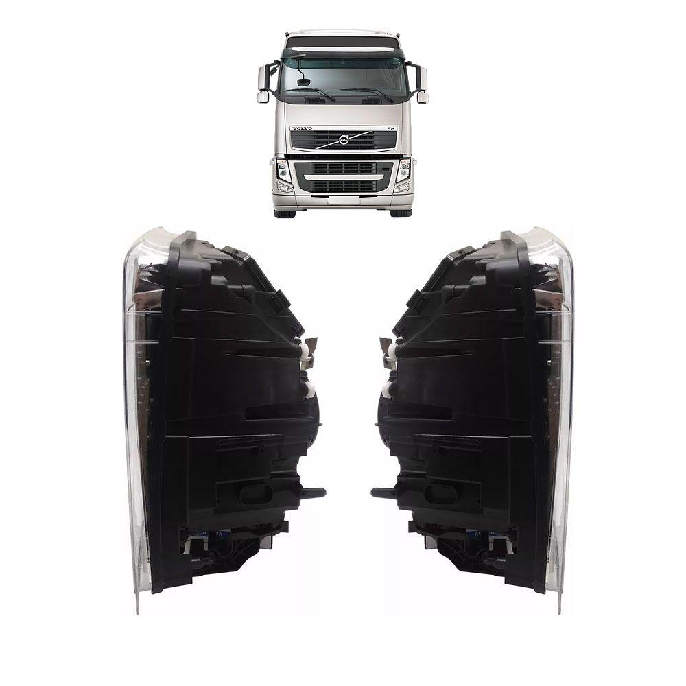 Par Farol Principal para Caminhão Volvo FH D13 de 2010 a 2014 Lado esquerdo Lado direito 21035637 21035638