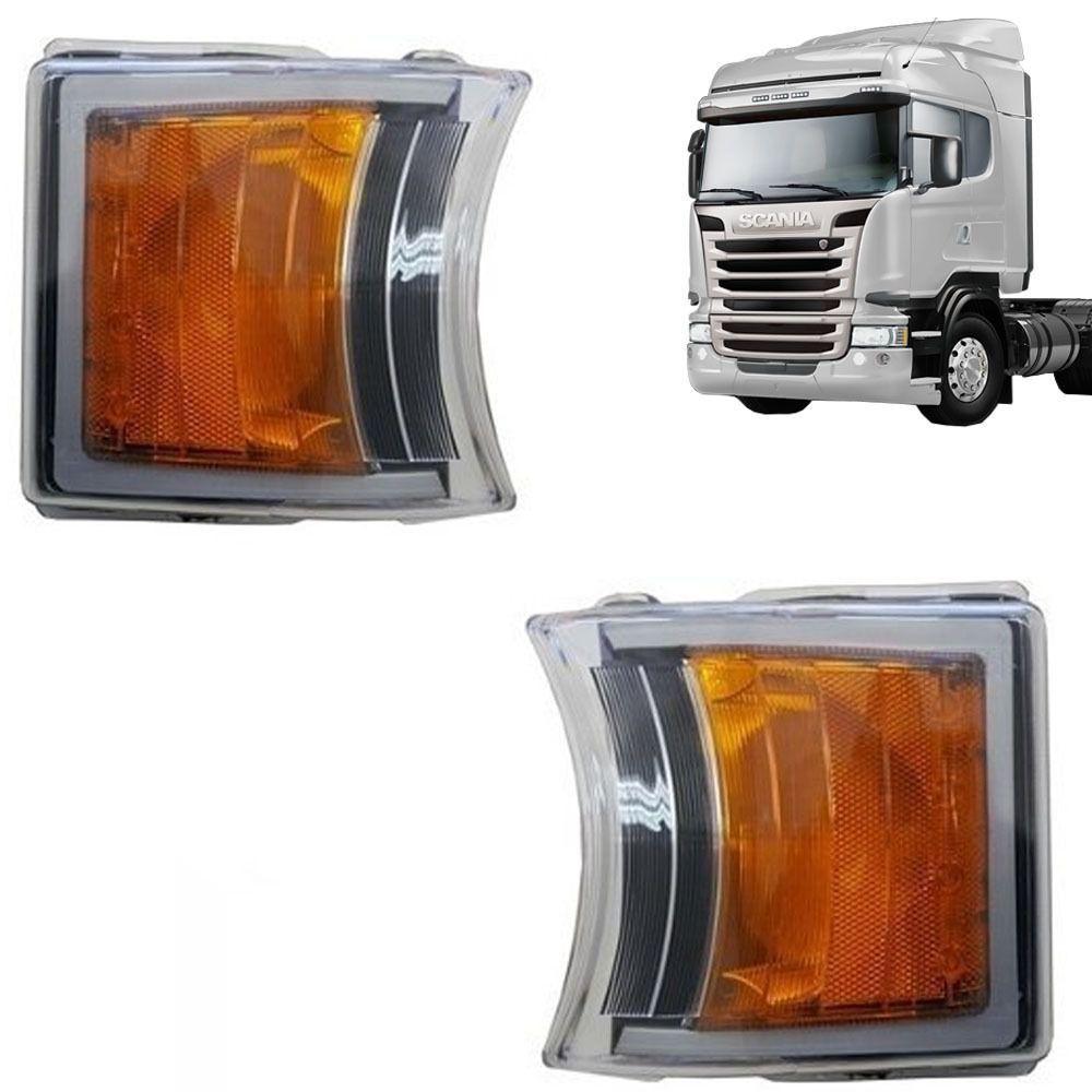 Par Lanterna Dianteira Pisca Led Compatível com o Caminhão Scania S5 1747981 2241544