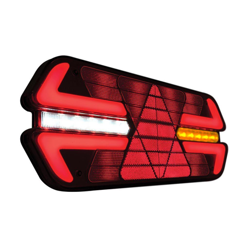 Par lanternas traseiras de led para carreta triplo X 12V