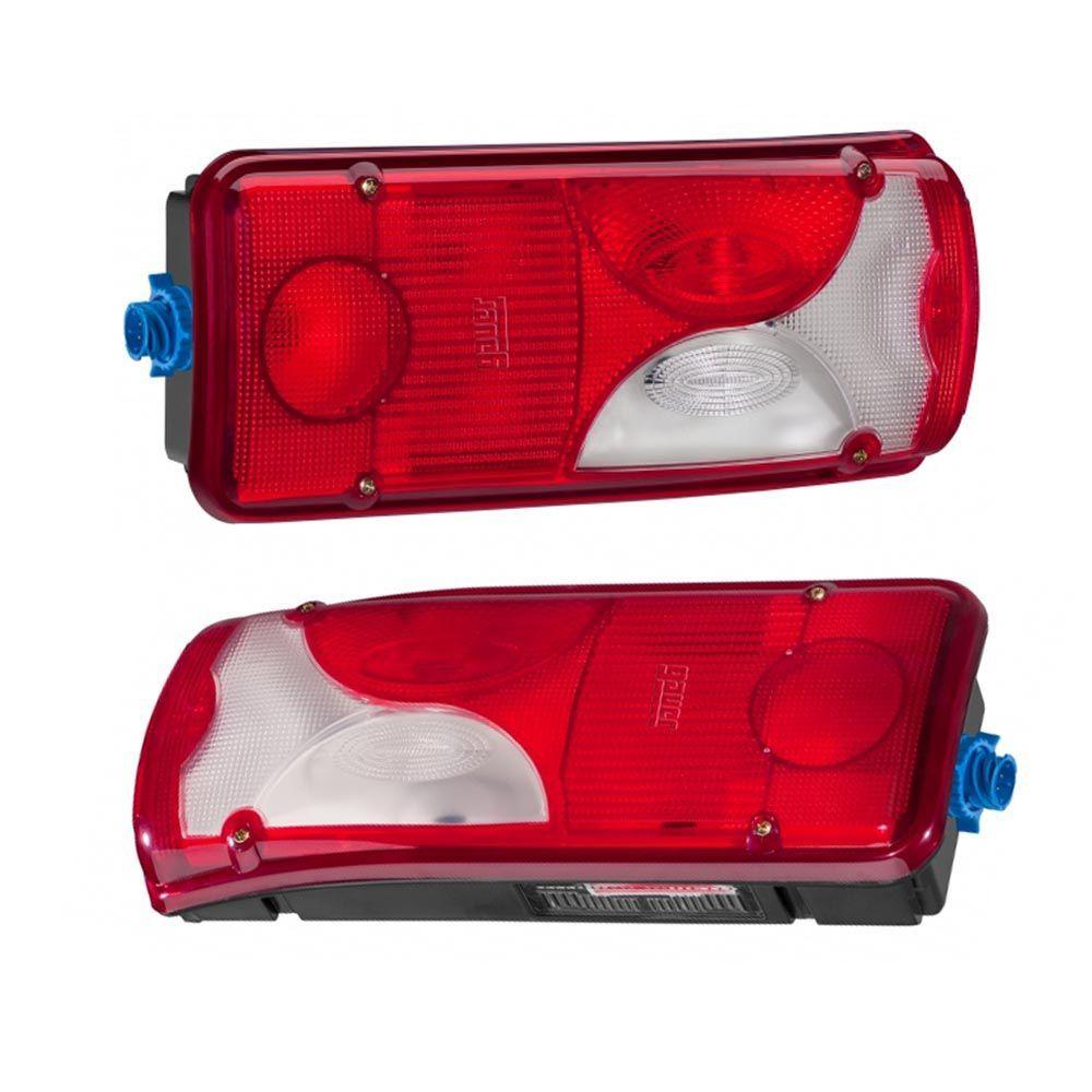 Par Lanternas Traseiras Compatível com Caminhão Scania S4 S5 LD / LE Botinha